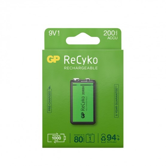 GP ReCyko 9V-batteri, 200 mAh, 1-pack