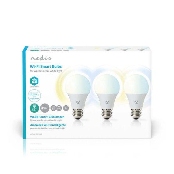 WIFILW33WTE27 Light Bulb Wifi E27 3-pack