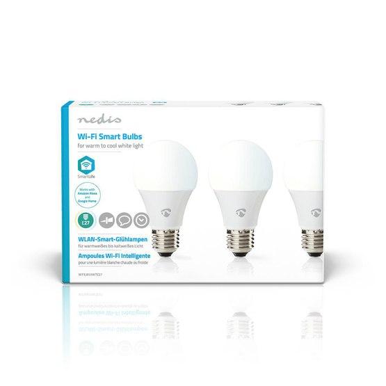 WIFILW33WTE27 Light Bulb, Wifi, E27, 3-pack