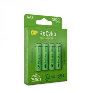 GP ReCyko AA-batteri, 2600 mAh, 4-pack